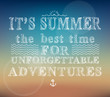 Постер, плакат: Summer adventures poster