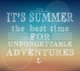 Summer adventures poster