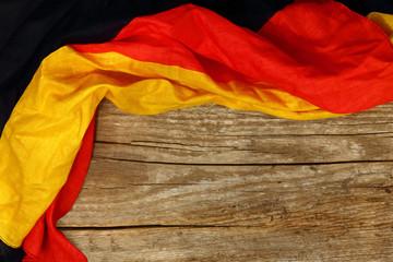 Holzhintergrund, Rahmen, Deutschlandfahne