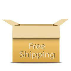 Free shipping cardboard box