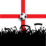 Football supporters on England flag