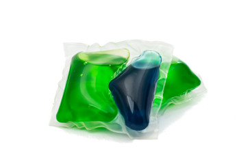 Gel capsules with laundry detergent