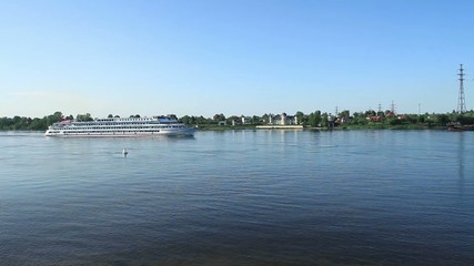 river cruise ships time Lapse