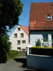 Gasse in der Altstadt von Oerlinghausen im Teutoburger Wald