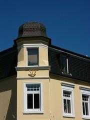 Perfekt restaurierter Erker an einem Altbau in Oerlinghausen