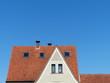 Dachkonstruktion mit spitzem Giebel eines Wohnhaus in Helpup