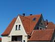 Dachkonstruktion mit spitzem Giebel in Helpup bei Oerlinghausen