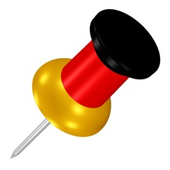 Pin in Schwarz-Rot-Gold