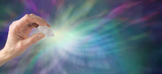 Crystal healer's website banner