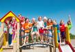 Leinwanddruck Bild - Funny children outdoors