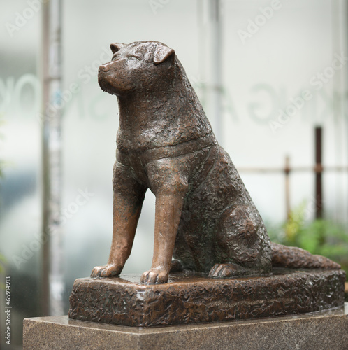 Foto op Plexiglas Tokyo Hachiko Statue in Shibuya
