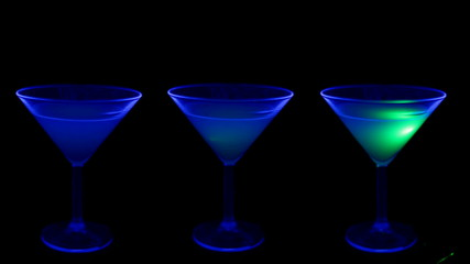 Cocktail in a club with UV light
