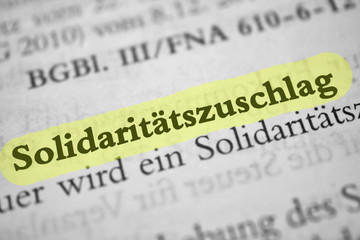 Solidaritätszuschlag - gelb markiert
