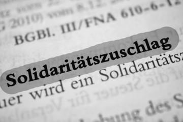 solidaritätszuschlag - grau markiert