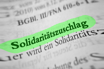 solidaritätszuschlag - grün marktiert