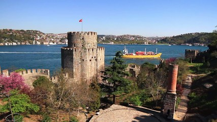 Rumeli Fortress, Bosphorus in the background. Istanbul, Turkey