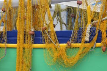 Boot mit Fischernetzen