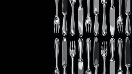 Cutlery On Black