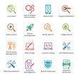 SEO & Internet Marketing Icons Set 1 - Colored Series