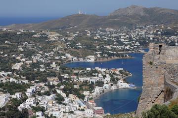 Blick auf Agia Marina auf der Insel Leros