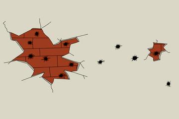 Bullet Ridden Wall