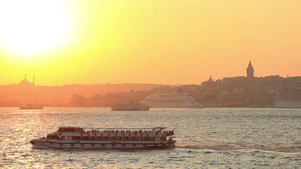 Istanbul at golden sunset