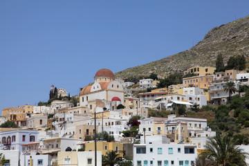 Kirche in Platanos auf der griechischen Insel Leros