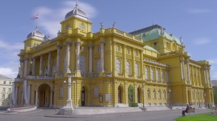Croatian national theater building made in 1895, Zagreb