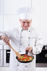 Veggies on pan