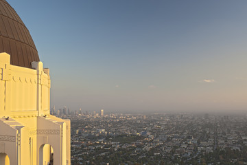 View of Los Angeles from the Griffith Observatory in Los Angeles