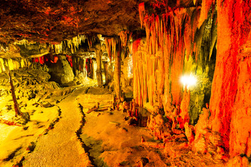 Cave stalactites in Thailand