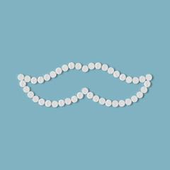 pills concept: mustache