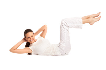 Portrait of a young healthy woman fitness abdominal27
