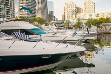 Boats in Waterfront Toronto