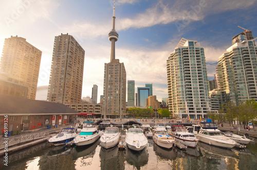 Fotobehang Stad aan het water Harbourfront in downtown Toronto