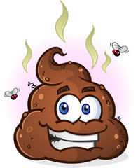 Poop Pile Cartoon Character