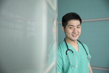 Portrait of Asian male surgeon.