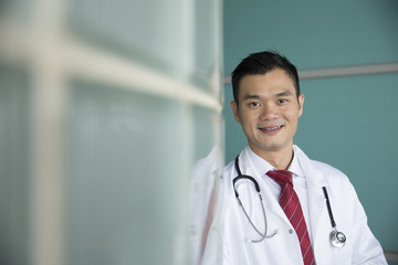 Portrait of Asian male doctor.