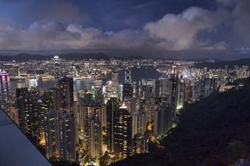 香港島ビクトリアピークからの夜景