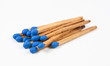 Pile of Dark Blue Matchsticks