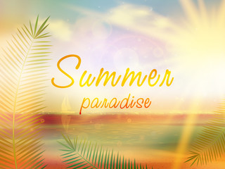 Summer paradise creative summer design.