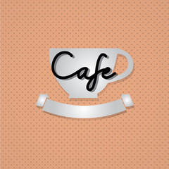 """Typo vector with word """"Cafe"""""""