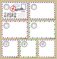 ポストカードデザイン素材
