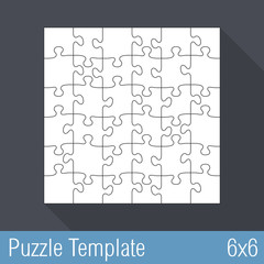 Jigsaw Puzzle Template 36 Pieces
