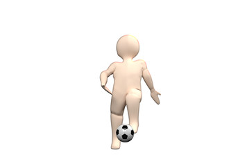 3D Human playing football