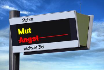 Anzeigetafel 3 - Mut