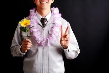 ハワイ旅行に当選した人