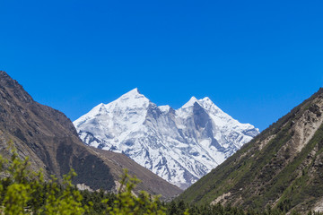 The Bhagirati Peaks in the Indian Himalayas
