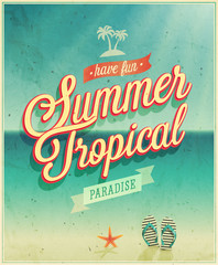 Tropical paradise poster.