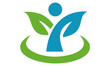 leaf & health logo icon